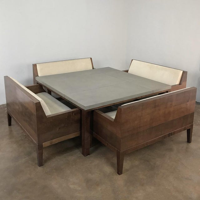 Designer Table & 4 Matching Benches by Christian Liaigre For Sale - Image 13 of 13