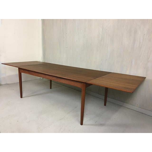Danish Modern Teak Extension Dining Table By Soborg Mobler Chairish - Outdoor teak extension dining table