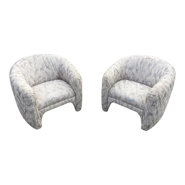 1980s Vintage Sculptural Steve Chase Lounge Chairs- A Pair For Sale