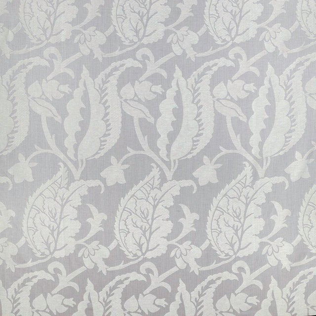 Suzanne Tucker Home Sample, Suzanne Tucker Home Jacqueline Linen Blend Jacquard in Lilac For Sale - Image 4 of 4