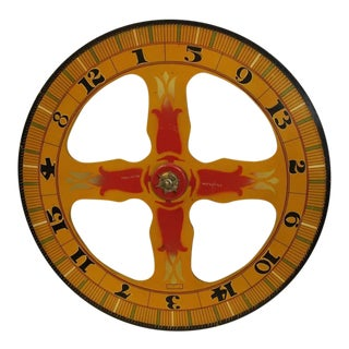 1930s Vintage Evans Company Game Wheel For Sale