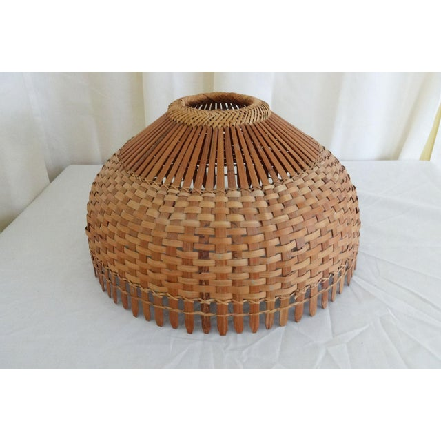 1960s Mid Century Modern Bamboo/Rattan Lampshade For Sale - Image 4 of 8