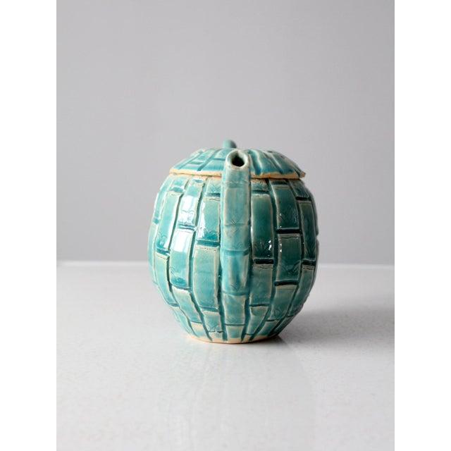 Contemporary Vintage Studio Pottery Tea Pot For Sale - Image 3 of 11