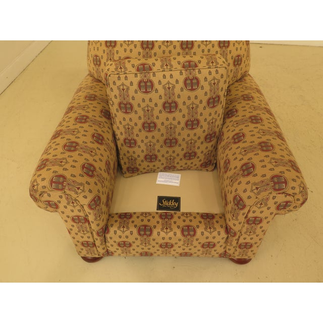Stickley Native American Print Upholstered Club Chair For Sale - Image 9 of 11