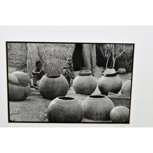 African Original African Children Pottery Scene Photograph For Sale - Image 3 of 5