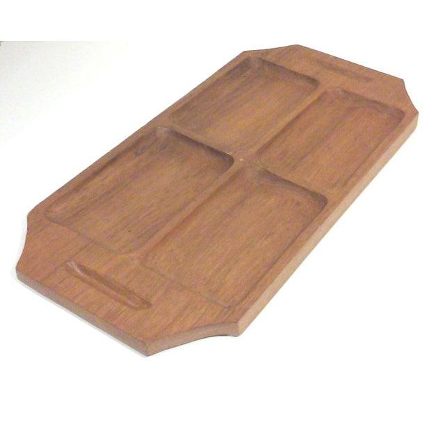Danish Modern Teak Wood Serving Tray - Image 2 of 4