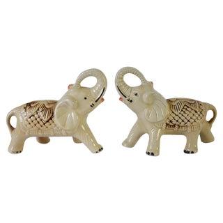 Vintage Exotic Elephant Figurines - Pair