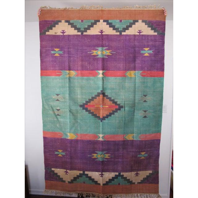 Santa Fe Flat Weave Rug - 4′ × 6′ - Image 2 of 4