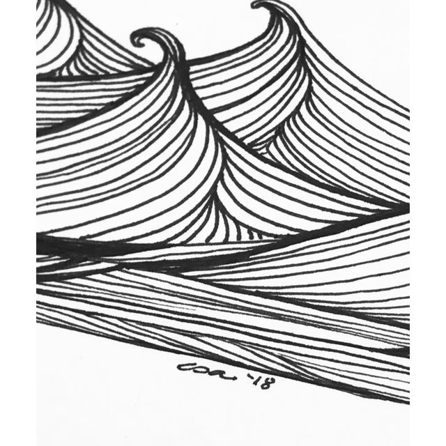 "Christy Almond ""The Waves of the Sea"" Contemporary Pen & Ink Drawing For Sale In Charlotte - Image 6 of 8"