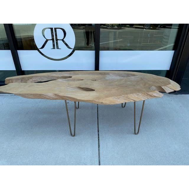 Coffee Vintage Live Edge Coffee Table For Sale - Image 8 of 8
