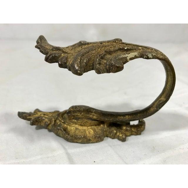 Bronze Napoleon III Bronze Dorè Drapery Tie-Backs a Pair For Sale - Image 8 of 12