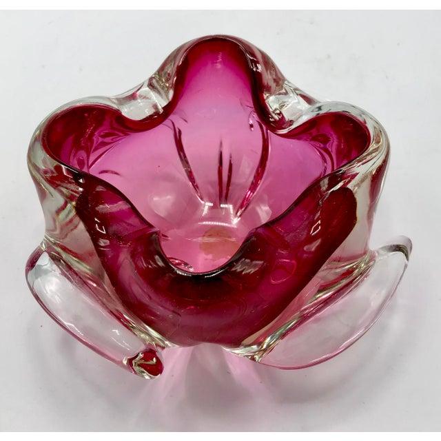 Alfredo Barbini for Archimede Seguso Cranberry Glass Bowl or Ashtray - Image 5 of 9