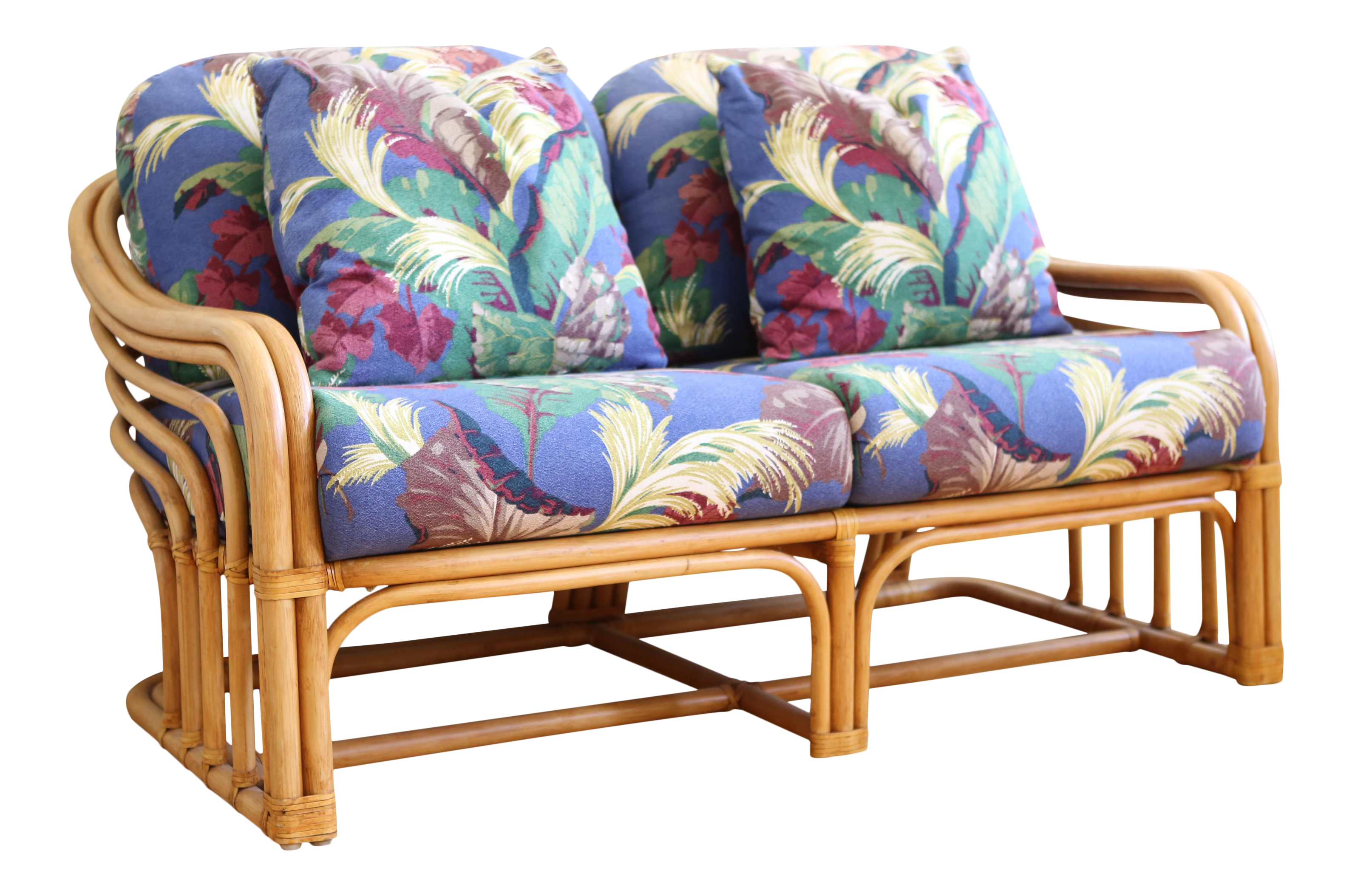 Vintage McGuire Style Bamboo Sofa For Sale