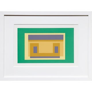 Josef Albers - Portfolio 2, Folder 29, Image 2 Framed Silkscreen For Sale