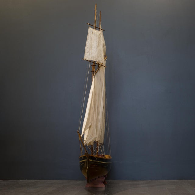 Early 20th C. Monumental Ship Model C. 1940 For Sale In San Francisco - Image 6 of 12