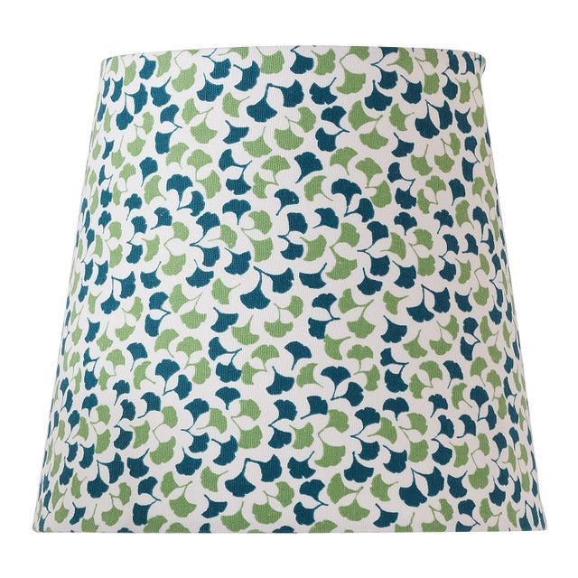 Port 68 Small Madcap Cottage Howards End Leaf-Print Fabric Lamp Shade For Sale - Image 4 of 4