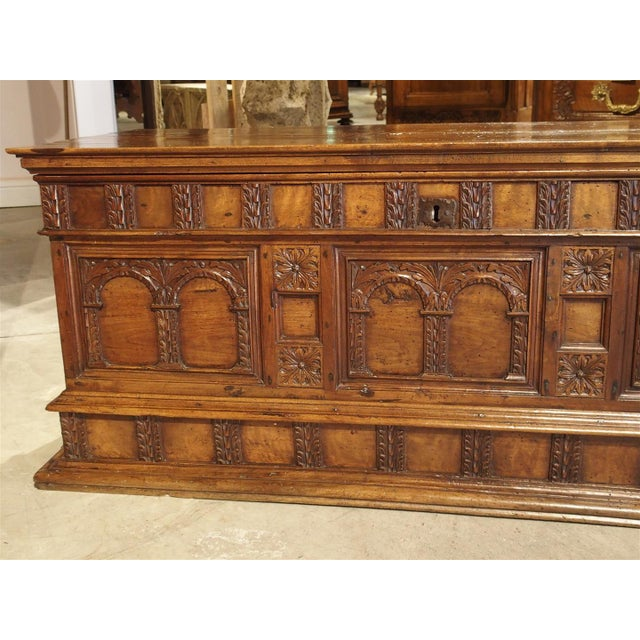 18th Century Walnut Wood Trunk from Italy For Sale In Dallas - Image 6 of 11