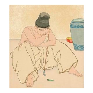 La Chenille Verte Corée Woodblock Print