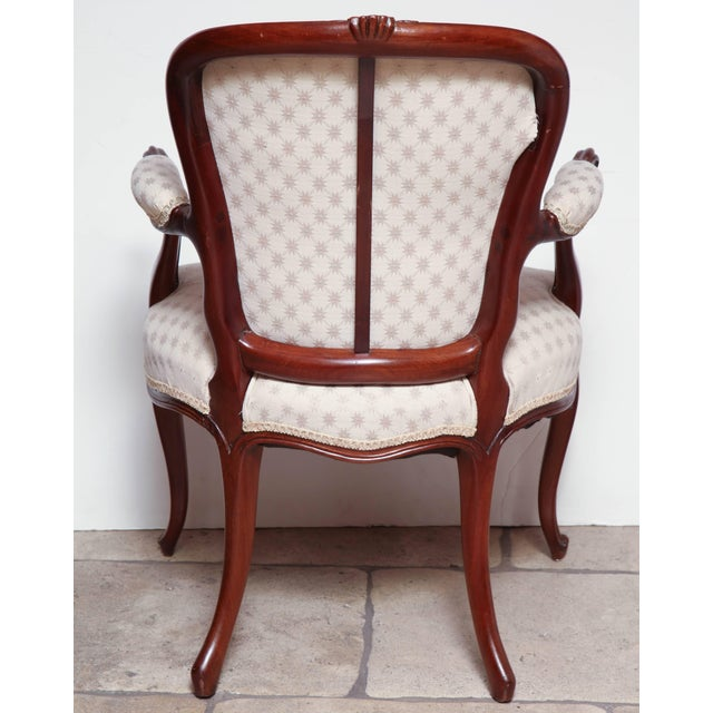 Pair of George III Carved Armchairs For Sale - Image 10 of 11