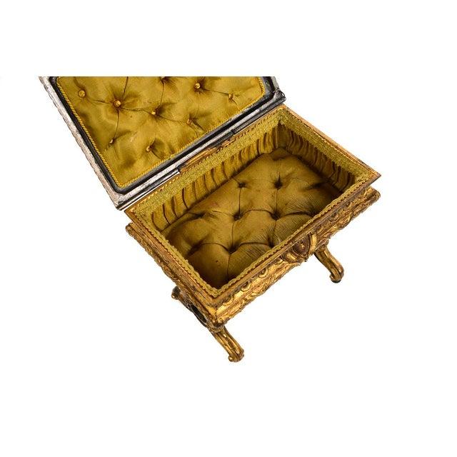 19th century Antique Gilt Bronze Jewelry Box- Miniature Sawing Box - Image 8 of 9