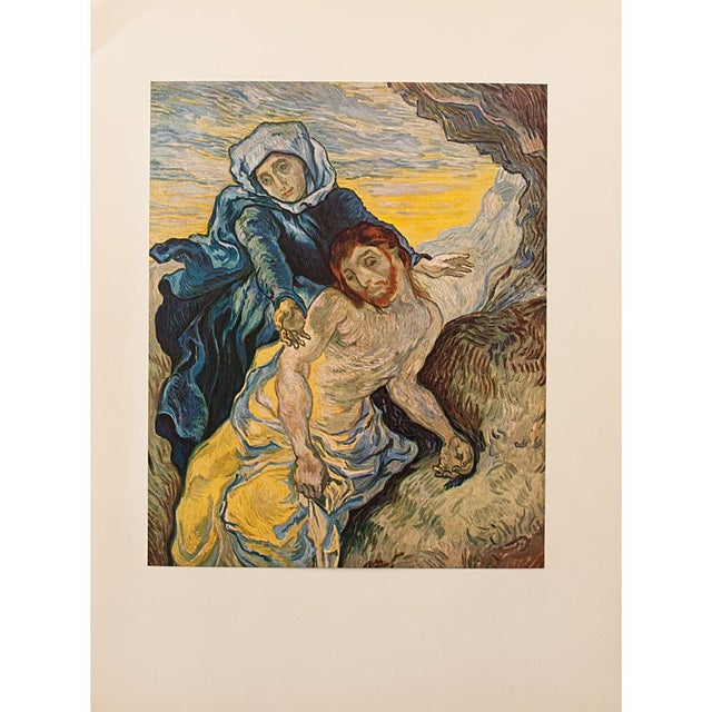 """Turquoise 1950s Van Gogh, First Edition Lithograph """"Pieta"""" (After Delacroix) For Sale - Image 8 of 8"""