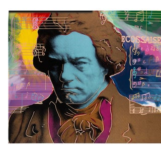 Steve Kaufman Beethoven State 1 Gold Artist Proof - 6/50 For Sale