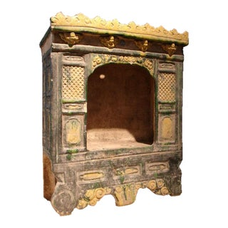 A Ming Dynasty Sancai Glazed Pottery Architectural Model