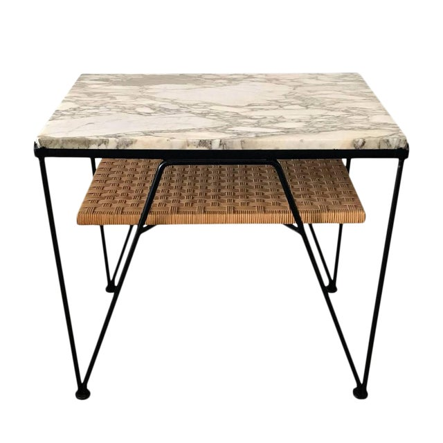 Maurizio Tempestini for Salterini Marble-Top Side Table - Image 1 of 5