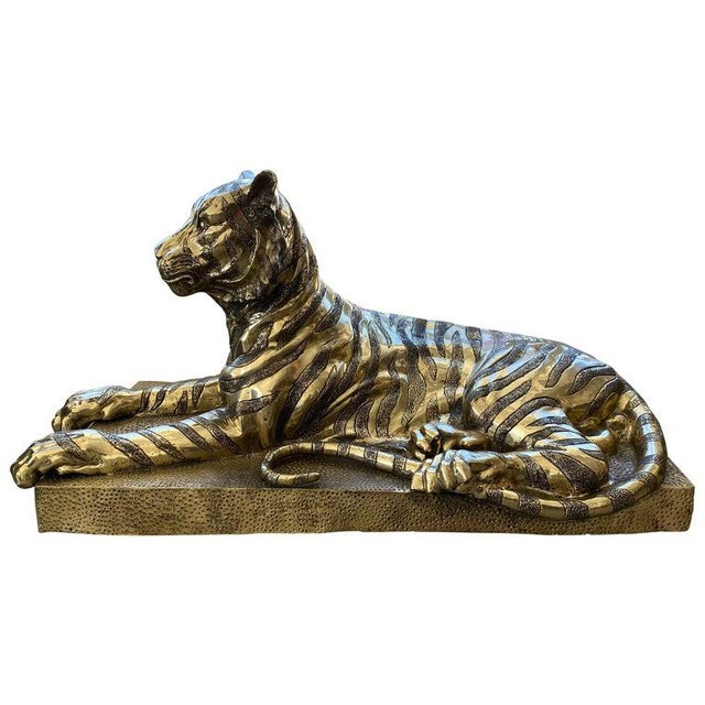 Mid-Century Sculpture Bengal Tiger For Sale - Image 13 of 13