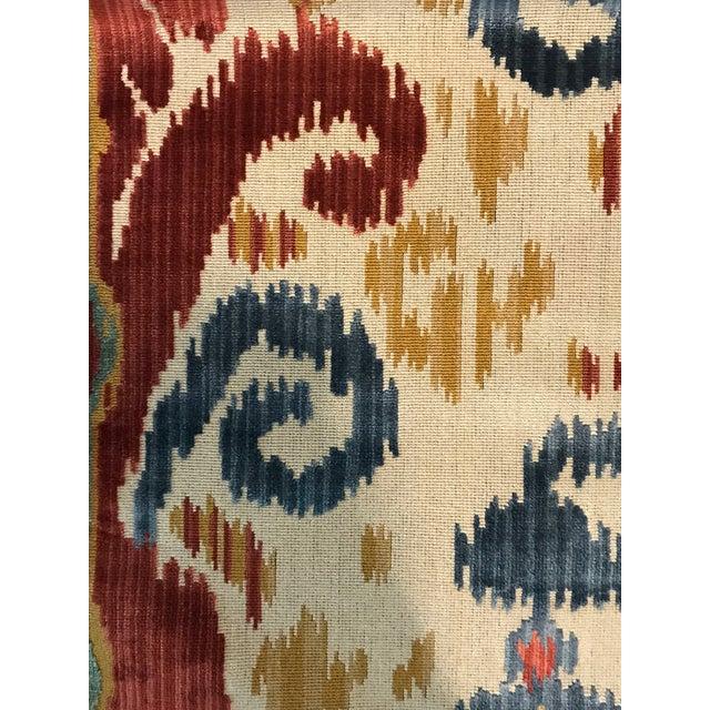 Kravet Traditional Kravet Ikat Pardah Cut Velvet in Jewel - 1 Yard Fabric For Sale - Image 4 of 7