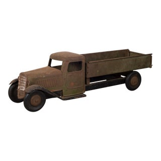 Antique Structo Pressed Steel Diecast Truck C. 1930s For Sale