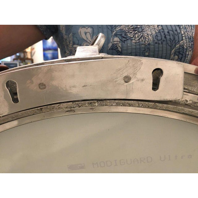 Original Large Ship's Nautical Chrome Porthole Window Converted to Mirror, 1960s For Sale - Image 4 of 8