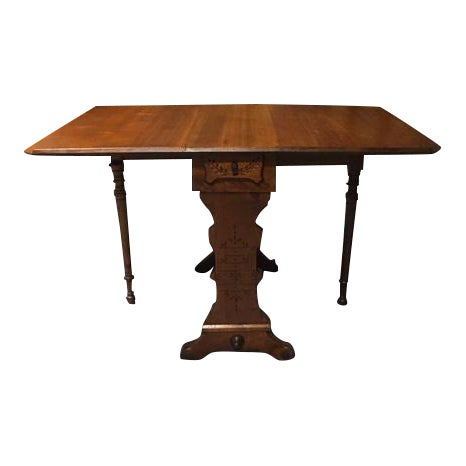 19th Century Pennsylvania Dutch Swing Leg Table For Sale