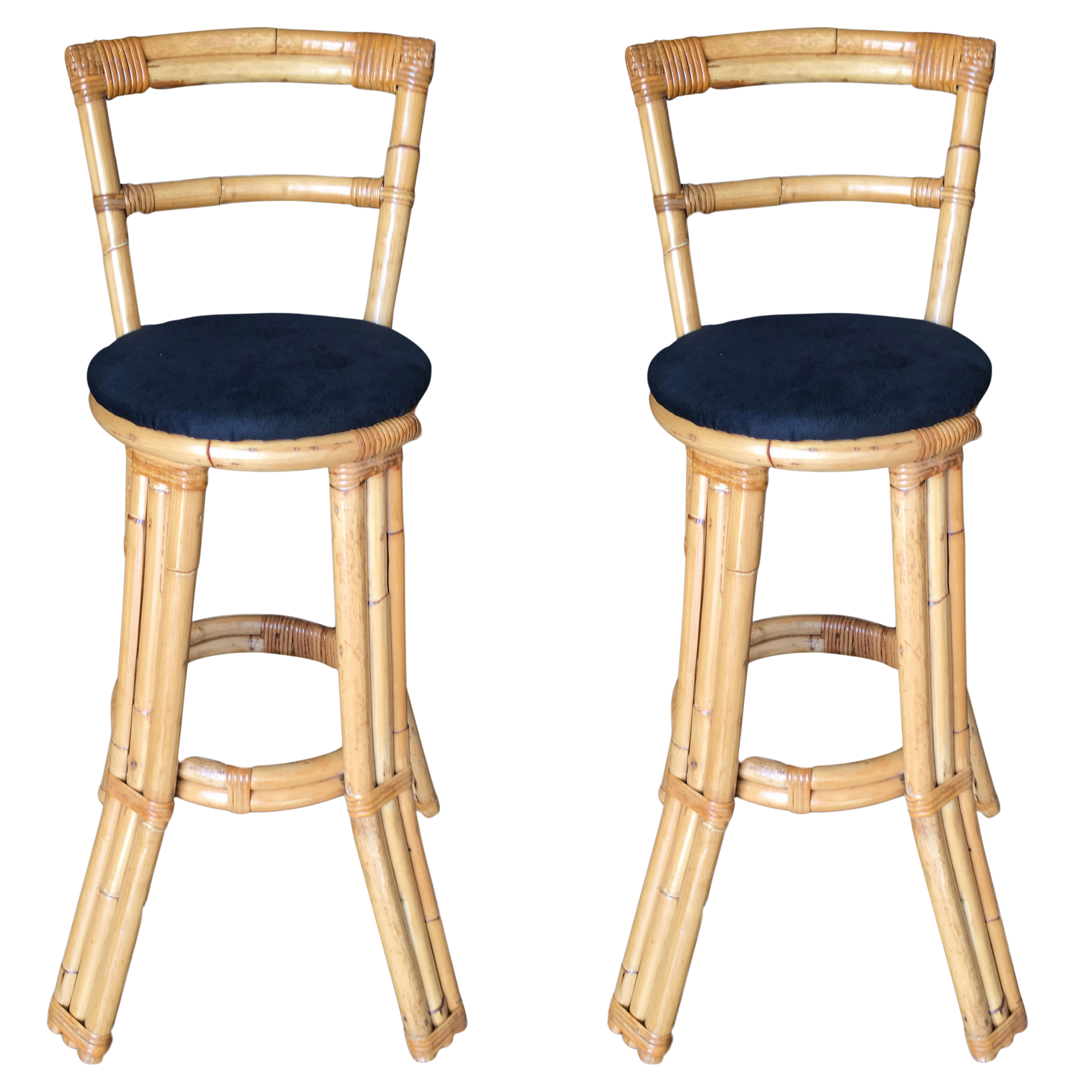 Picture of: Vintage New Bamboo Bar Stools For Sale Chairish
