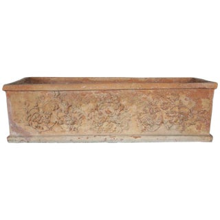 Italian Terra Cotta Planter, Circa 1930s For Sale
