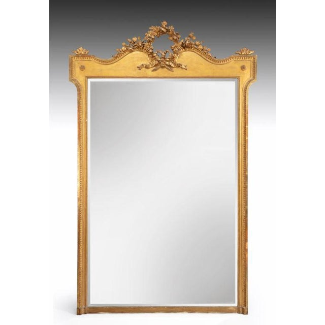Mid 19th Century Large 19th Century French Mirror For Sale - Image 5 of 5