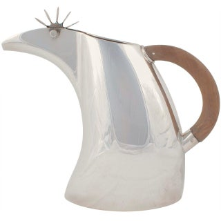 Gabriele DeVecchi Italian Sterling Silver Water Pitcher, 2001 For Sale