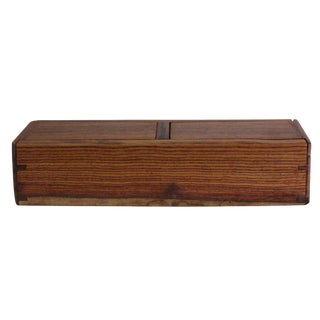 Chinese Huali Rosewood 2 Drawers Narrow Rectangular Storage Box Accent For Sale