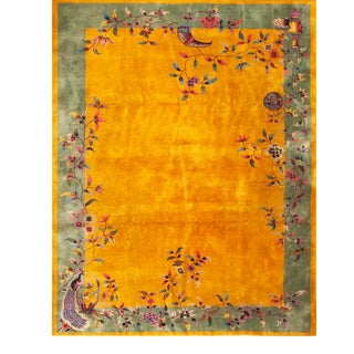 1920s Antique Chinese Art Deco Rug-9′ × 11′6″ For Sale