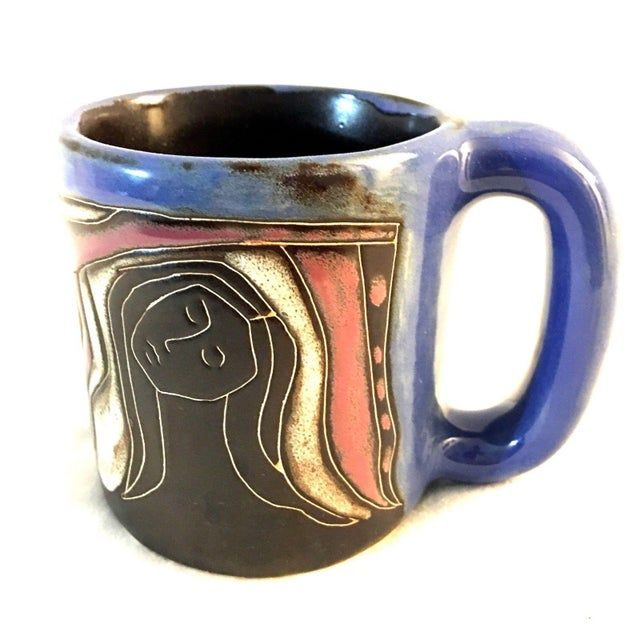 Handmade Picasso Style Coffee Mug Cup For Sale In Dallas - Image 6 of 6