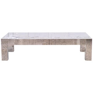 Paul Evans Chrome Coffee Table For Sale