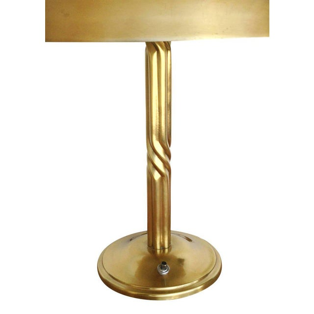 Luxury Machine Age Brass Desk Lamp With Dome Shade Decaso