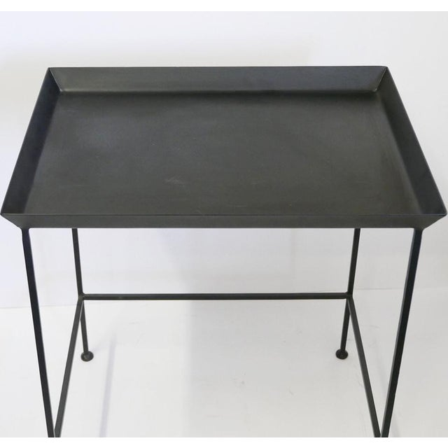 Black Metal Tray Table For Sale - Image 4 of 5