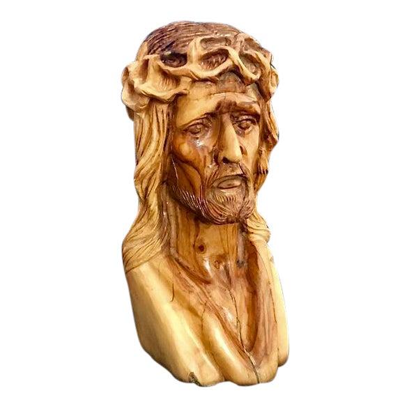 Hand Carved Olive Wood Sculpture - Image 1 of 9