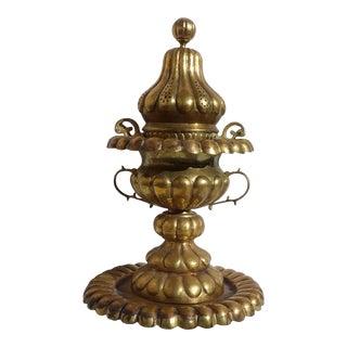 Turkish Brass Incense Burner Pot For Sale
