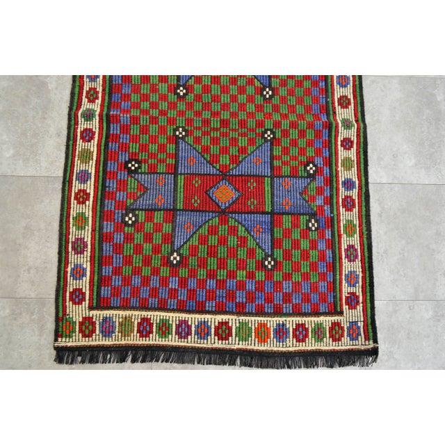 Turkish Hand Woven Wool Starry Jajim Mini Kilim Rug - 2′6″ X 3′9″ For Sale - Image 6 of 8