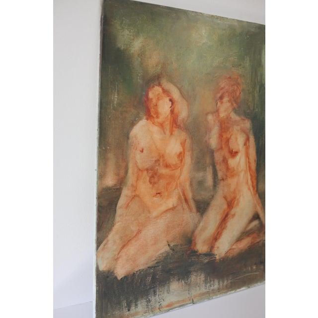 """""""Sisterhood"""" Impressionist Nude Painting - Image 4 of 5"""