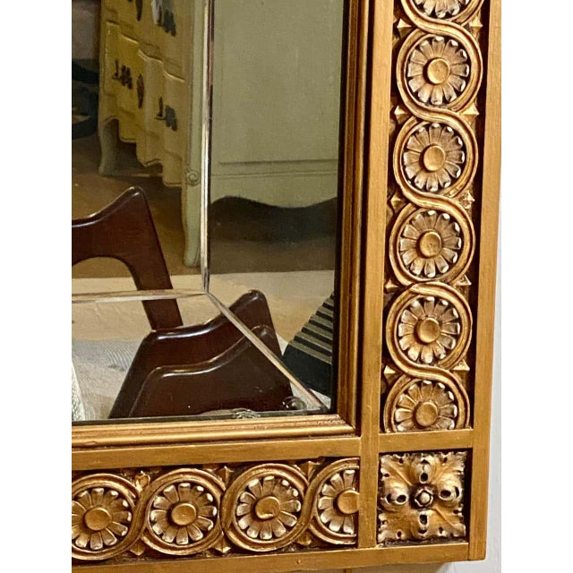 Wood Pair of Neoclassical Wall or Console Mirrors, Giltwood Carved For Sale - Image 7 of 13