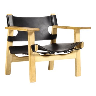 Mid Century Børge Mogensen for Frederica Spanish Black Chair For Sale
