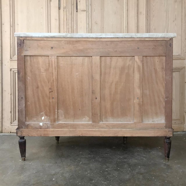 19th Century French Directoire Mahogany Marble Top Buffet For Sale - Image 12 of 13
